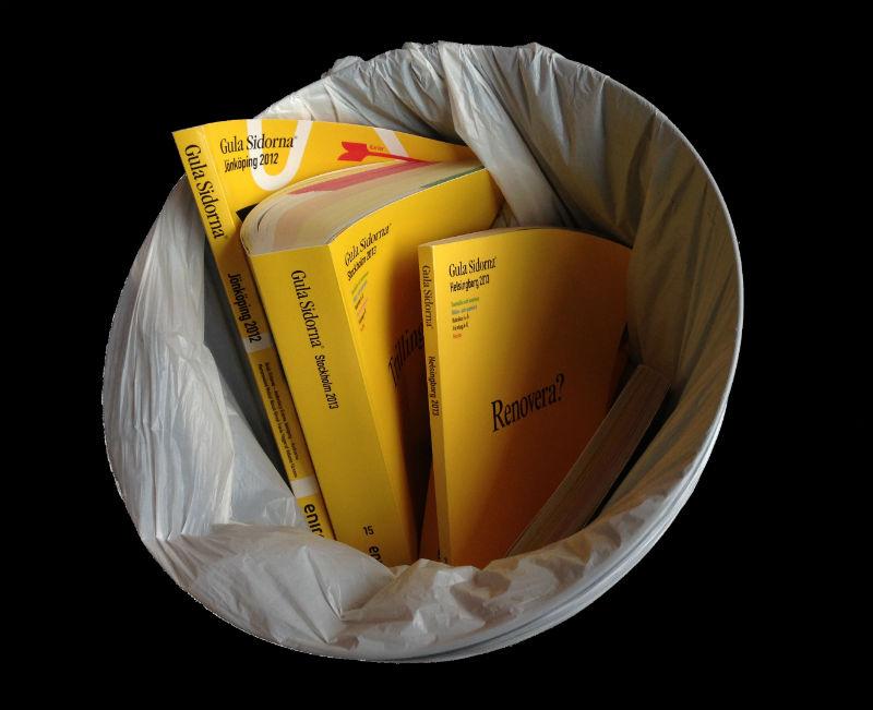 Eniro kastar den klassiska katalogen.